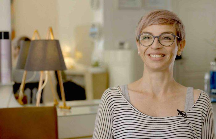 Susanne Heinz Friseurmeisterin im Videoportrait von Kai Schmitz auf Videoansage.de